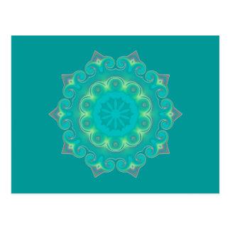 Retro Kaleidoscope Abstract Postcard