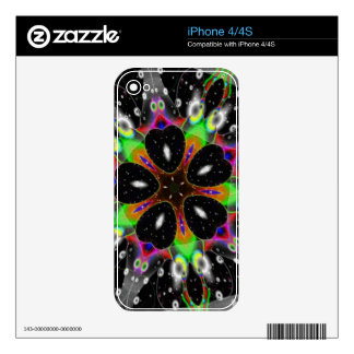 Retro Kaleidoscope Art Decal For The iPhone 4