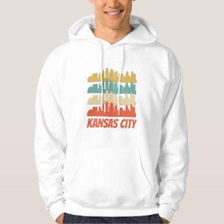 Retro Kansas City MO Skyline Pop Art Hoodie