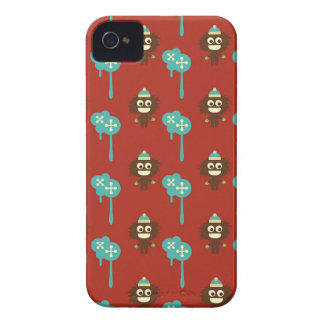 Retro kawaii little monsters cute pattern print 4S iPhone 4 Case