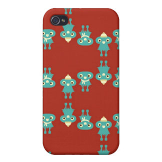 Retro kawaii little monsters cute pattern print 4S iPhone 4/4S Cases