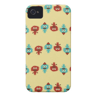 Retro kawaii little monsters cute vector pattern iPhone 4 cases