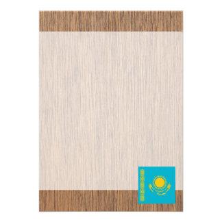 "Retro Kazakhstan Flag 5"" X 7"" Invitation Card"