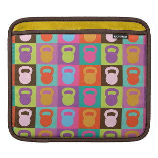 Retro Kettlebell Pattern Sleeves For iPads
