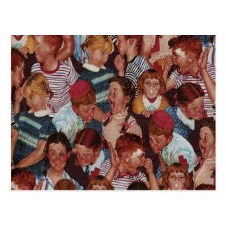Retro Kids Postcard