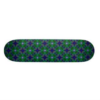 Retro kind Deco in green blue and asterisk Skateboard Deck