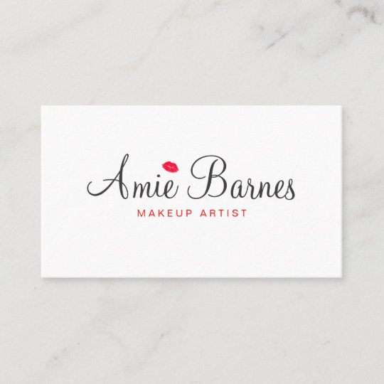 Retro kissing lips makeup artist white beauty business card zazzle retro kissing lips makeup artist white beauty business card reheart Gallery