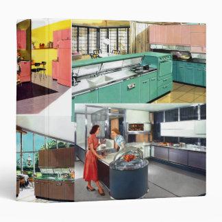 Retro Kitchen 3 Ring Binder