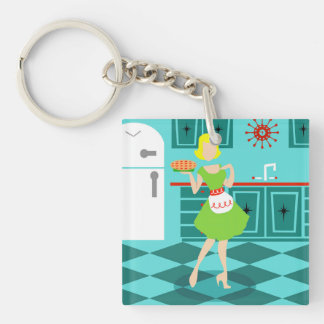 Retro Kitchen Acrylic Keychain