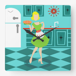 Retro Kitchen Acrylic Wall Clock