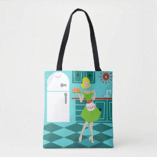 Retro Kitchen All-Over Print Tote Bag