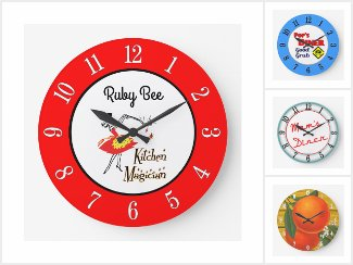 My Collection Of Retro Kitchen Wall Clocks