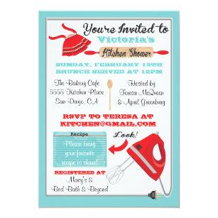 kitchen bridal shower invitations announcements zazzle rh zazzle com kitchen tea bridal shower invitations kitchen bridal shower invitation ideas