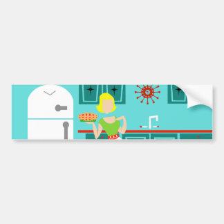 Retro Kitchen Bumper Sticker