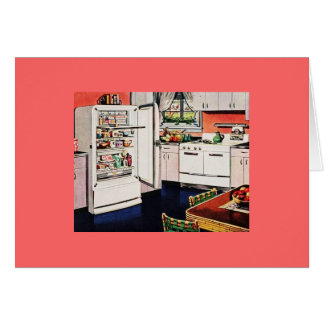 Retro Kitchen Greeting Cards