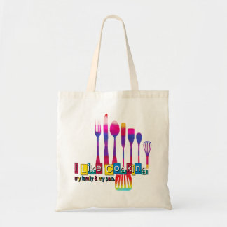 Retro Kitchen Cooking My Family My Pets Tote Bag