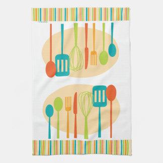 Retro Kitchen Cooking Utensils Dish Towel