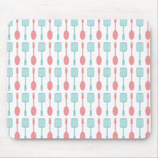 Retro Kitchen Cooking Utensils Mouse Pad