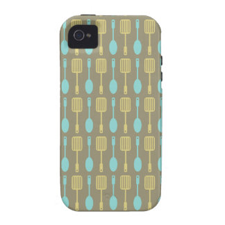 Retro Kitchen Cooking Utensils Pattern Case-Mate iPhone 4 Covers
