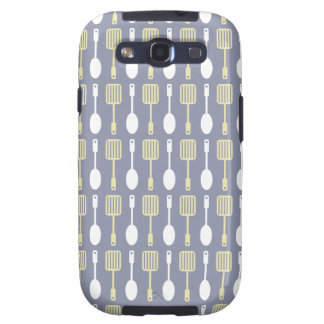 Retro Kitchen Cooking Utensils Pattern Galaxy SIII Covers