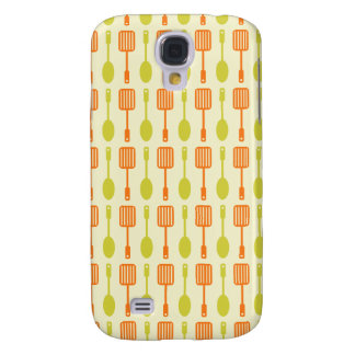 Retro Kitchen Cooking Utensils Pattern Galaxy S4 Covers