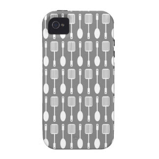 Retro Kitchen Cooking Utensils Pattern iPhone 4/4S Covers