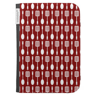 Retro Kitchen Cooking Utensils Pattern Kindle 3 Covers