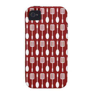 Retro Kitchen Cooking Utensils Pattern Case-Mate iPhone 4 Cover