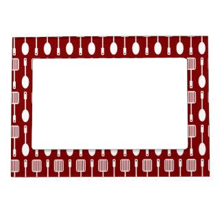 Kitchen Utensils Border kitchen utensils magnetic picture frames | zazzle
