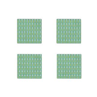 Retro Kitchen Cooking Utensils Pattern Stone Magnet