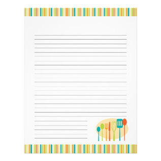 Retro Kitchen Cooking Utensils Recipe Pages at Zazzle