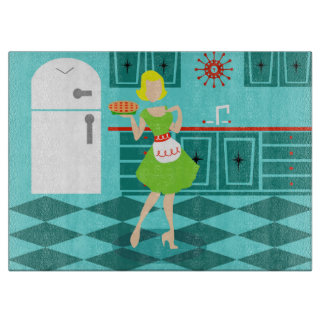 Retro Kitchen Cutting Board