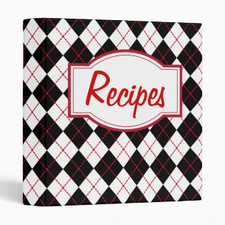 Retro Kitchen Diner Recipe Organizer Binder Gift