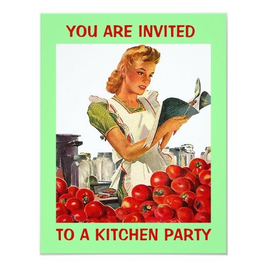Retro Kitchen Econ Home Canning Party Invitation