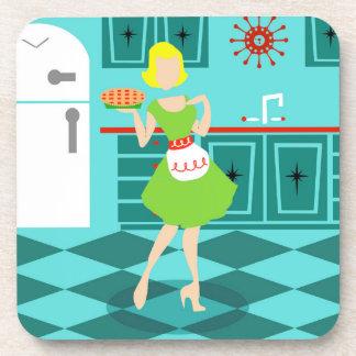 Retro Kitchen Hard Plastic Coasters