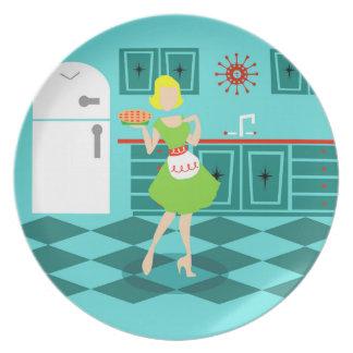 Retro Kitchen Melamine Plate