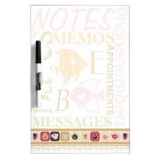 Retro Kitchen Memo Pad Dry Erase Whiteboards