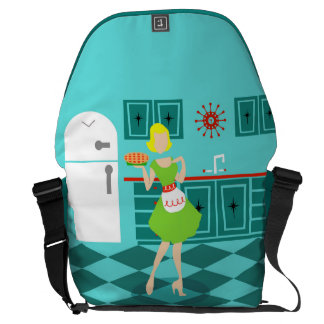 Retro Kitchen Messenger Bag