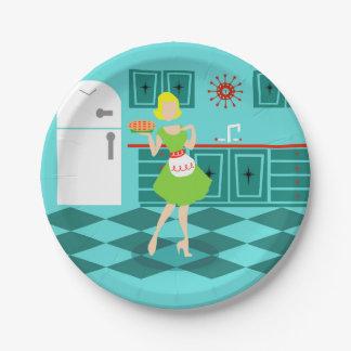 Retro Kitchen Paper Plates