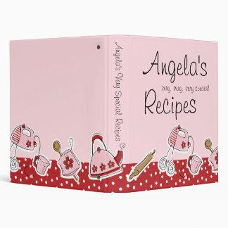 Retro Kitchen Recipe Binder