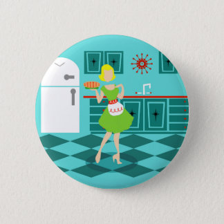Retro Kitchen Round Button