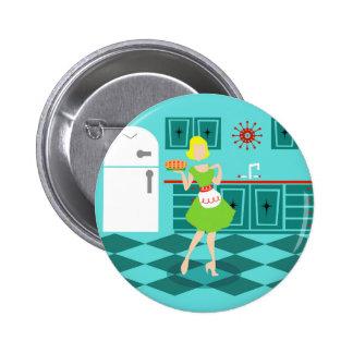 Retro Kitchen Round Button