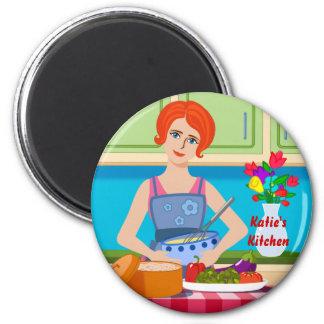 Retro kitchen scene magnet