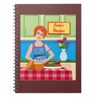 Retro kitchen scene notebook