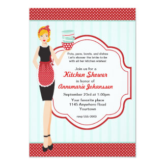 Retro Kitchen Shower Invitation