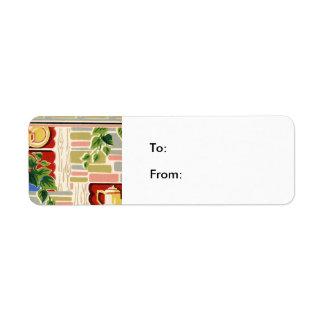 Retro Kitchen Wallpaper Label