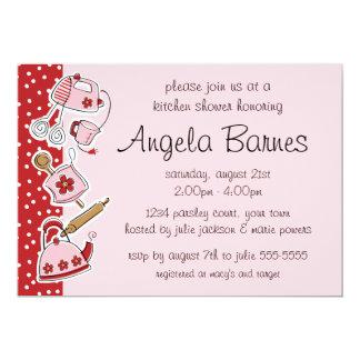 "Retro Kitchen Wedding Shower Invitations 5"" X 7"" Invitation Card"
