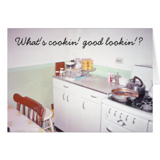 Retro Kitchen What's cookin' good lookin'? Card