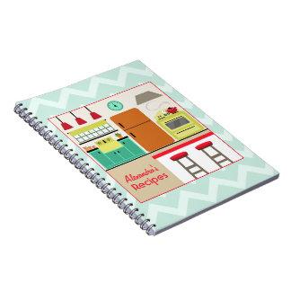 Retro Kitchen & Zig Zag Recipe Notebook