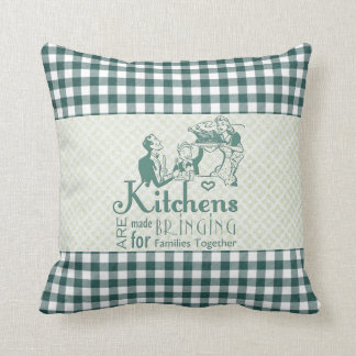 Retro Kitchens Bring Families Together Gingham Pillows
